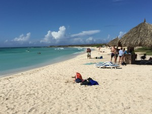 Aruba: Arashi Beach.  Our family no where in site because we were having fun!